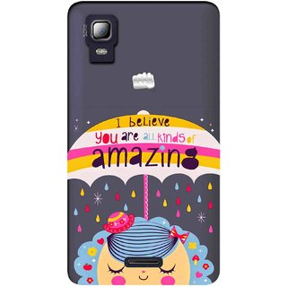 Snooky Printed Amazing Mobile Back Cover of Micromax Canvas Doodle 3 A102 - Multicolour