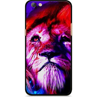 Snooky Printed Freaky Lion Mobile Back Cover For Oppo F3 plus - Multi