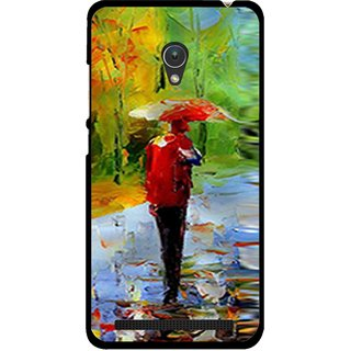 Snooky Printed Painting Mobile Back Cover For Asus Zenfone 5 - Multicolour