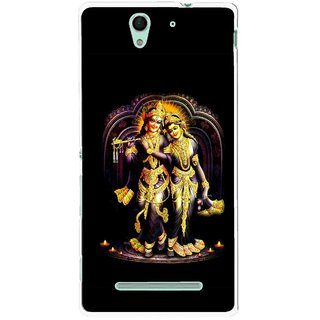 Snooky Printed Radha Krishan Mobile Back Cover For Sony Xperia C3 - Multicolour