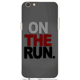 Snooky Printed On The Run Mobile Back Cover For Oppo F3 - Multi