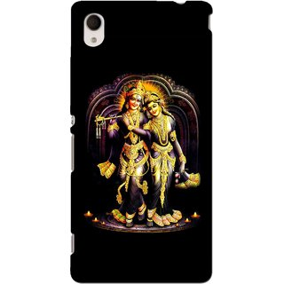 Snooky Printed Radha Krishan Mobile Back Cover For Sony Xperia M4 - Multi