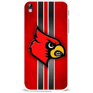Snooky Printed Red Eagle Mobile Back Cover For HTC Desire 816 - Multi