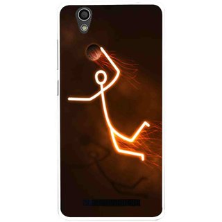 Snooky Printed Burning Man Mobile Back Cover For Gionee F103 - Multi