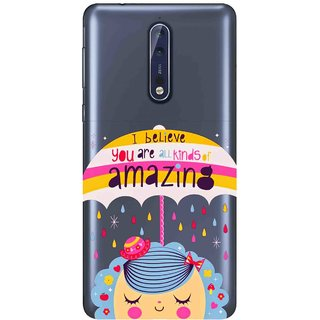 Snooky Printed Amazing Mobile Back Cover of Nokia 9 - Multicolour