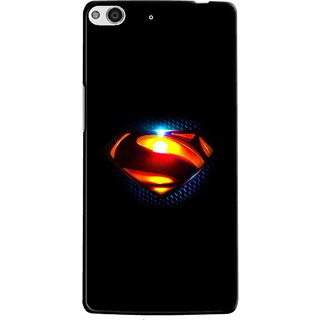 Snooky Printed Super Hero Mobile Back Cover For Gionee Elife E6 - Multi