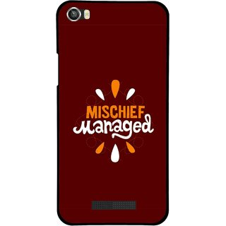 Snooky Printed Mischief Mobile Back Cover For Lava Iris X8 - Multi