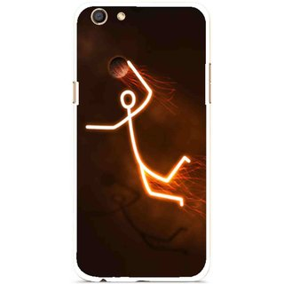 Snooky Printed Burning Man Mobile Back Cover For Oppo F3 - Multi