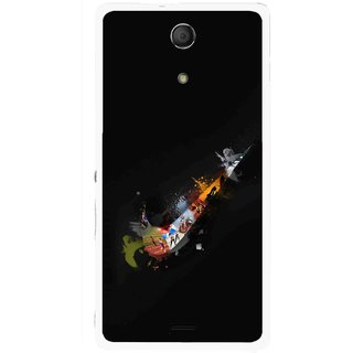 Snooky Printed All is Right Mobile Back Cover For Sony Xperia ZR - Multicolour