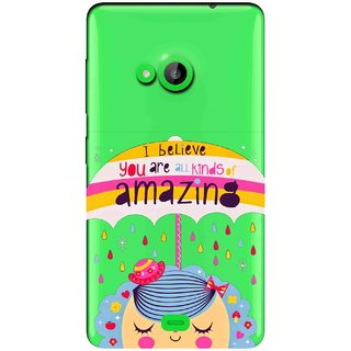 Snooky Printed Amazing Mobile Back Cover of Nokia Lumia 535 - Multicolour