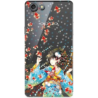 Snooky Printed Fishes Mobile Back Cover of Oppo Neo 7 - Multicolour