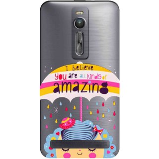 Snooky Printed Amazing Mobile Back Cover of Asus Zenfone 2 - Multicolour
