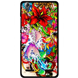 Snooky Printed Horny Flowers Mobile Back Cover For Lenovo A6000 - Multi