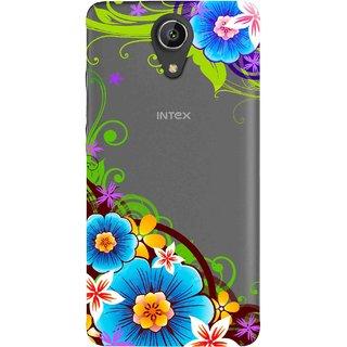 Snooky Printed Corner design Mobile Back Cover of Intex Aqua Freedom - Multicolour