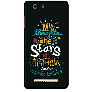 Snooky Printed Thoughts Are Stars Mobile Back Cover For Gionee F103 pro - Multi