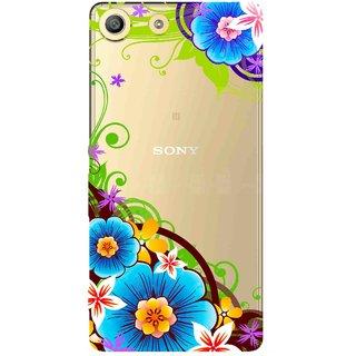 Snooky Printed Corner design Mobile Back Cover of Sony Xperia M5 - Multicolour