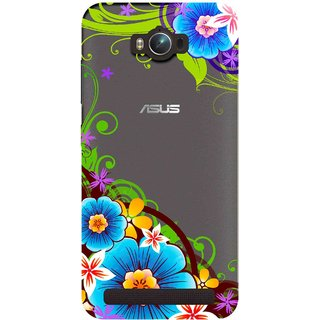 Snooky Printed Corner design Mobile Back Cover of Asus Zenfone Max - Multicolour