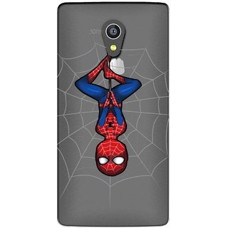 Snooky Printed Spiderman Mobile Back Cover of Micromax Canvas Fire 4G Q411 - Multicolour