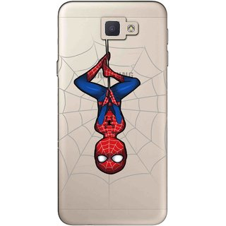 Snooky Printed Spiderman Mobile Back Cover of Samsung Galaxy J5 Prime - Multicolour