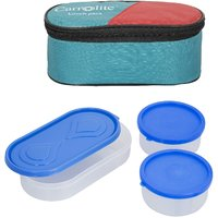 Sellebrity 3 in 1 Green Lunchbox-2 Plastic Container1 Plastic Chapati tray