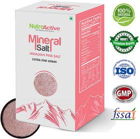 NutroActive Mineral Salt (HIMALAYAN PINK SALT) Extra Fine Grain (0 -0.5 mm) - 350 gm