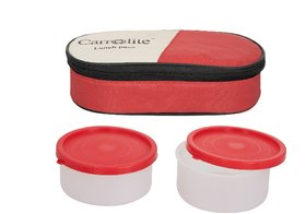 Sellebrity 2 in 1 Red Lunchbox-2 Plastic Container
