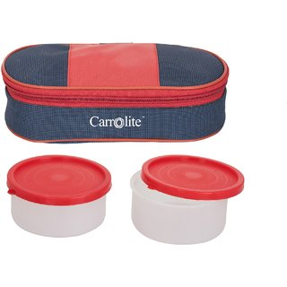 Sellebrity Royal Red-Blue Lunchbox-2 Plastic Container