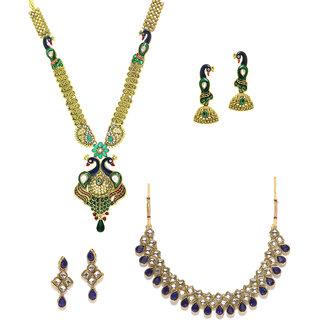 Zaveri Pearls Set of 2 Combo Necklace Set - ZPFK6297