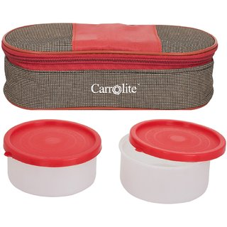 Sellebrity Royal Red-Brown Lunchbox-2 Plastic Container