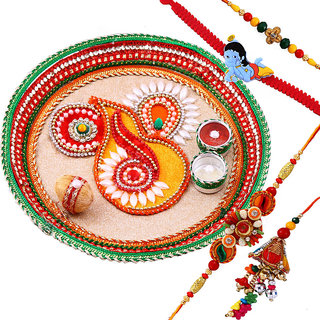 Creativity Centre Rakshabandhan Family Rakhi Thali Hamper With Rakhi