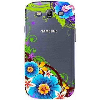 Snooky Printed Corner design Mobile Back Cover of Samsung Galaxy S3 - Multicolour