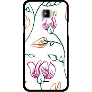Snooky Printed Flower Sketch Mobile Back Cover For Micromax Canvas Nitro A310 - Multicolour