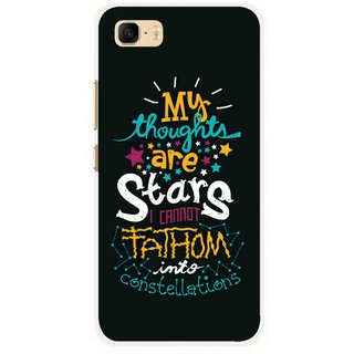 Snooky Printed Thoughts Are Stars Mobile Back Cover For Asus Zenfone 3s Max ZC521TL - Multi