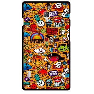 Snooky Printed Freaky Print Mobile Back Cover For Lg Optimus L7 II P715 - Multicolour