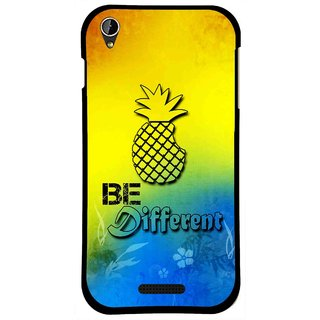 Snooky Printed Be Different Mobile Back Cover For Lava X1 Mini - Multi