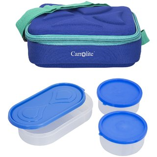 Sellebrity Andy Blue-2 Plastic Container1 Plastic Chapati tray