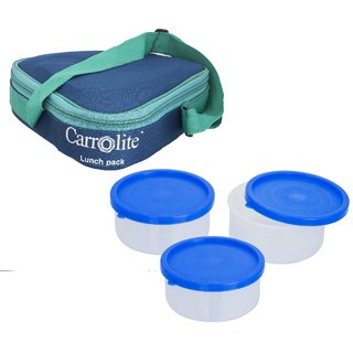 Sellebrity Triangle Blue-3 Plastic Container
