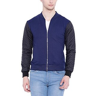 Campus Sutra Men Blue Full Sleeve Jacket