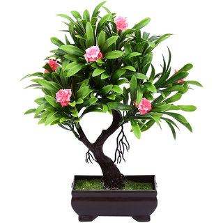 Random Y Shaped Bonsai Tree with Pink Roses
