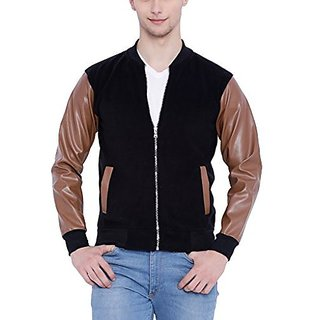 Campus Sutra Men Black Jacket