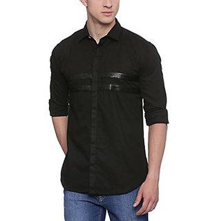 Campus Sutra Men Casual Black Shirt