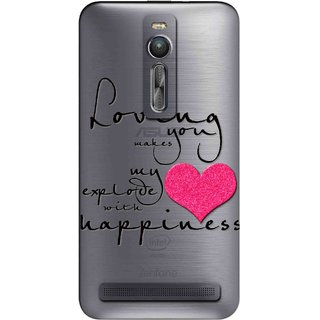 Snooky Printed Happiness Mobile Back Cover of Asus Zenfone 2 - Multicolour