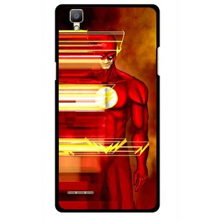 Snooky Printed Electric Man Mobile Back Cover For Oppo F1 - Multi