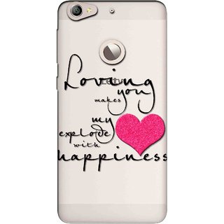 Snooky Printed Happiness Mobile Back Cover of Letv Le 1S - Multicolour
