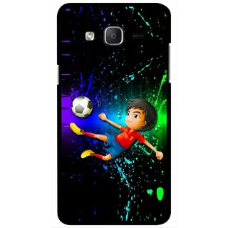 Snooky Printed High Kick Mobile Back Cover For Samsung Galaxy On7 - Multicolour