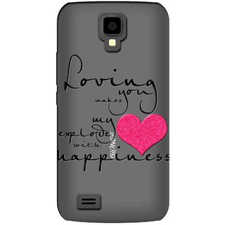 Snooky Printed Happiness Mobile Back Cover of Gionee Pioneer P2S - Multicolour