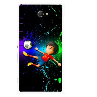 Snooky Printed High Kick Mobile Back Cover For Sony Xperia M2 - Multicolour