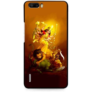 Snooky Printed Maa Durga Mobile Back Cover For Huawei Honor 6 Plus - Multi
