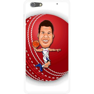 Snooky Printed Cricket Club Mobile Back Cover For Oppo R1 - Multi