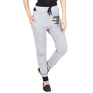Campus Sutra Womens Printed Track Pant Grey